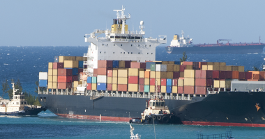 photo of cargo ship on the grand bahamas port